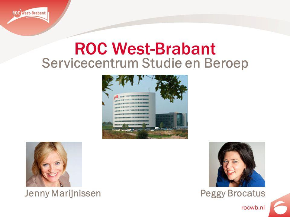 Servicecentrum Studie en Beroep Jenny Marijnissen Peggy Brocatus