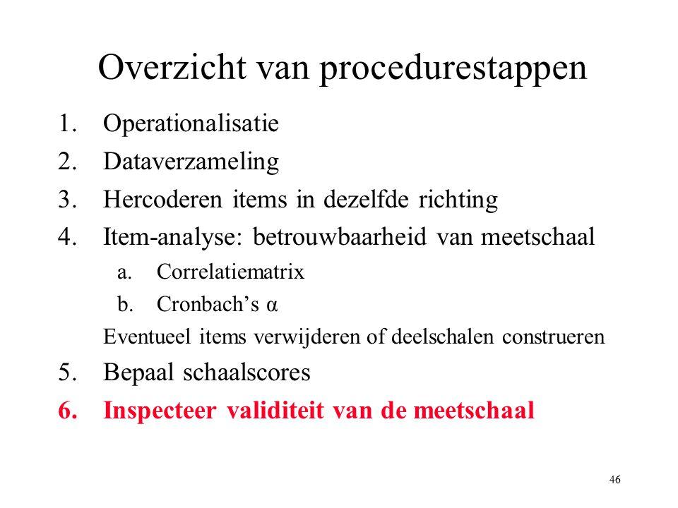 Overzicht van procedurestappen