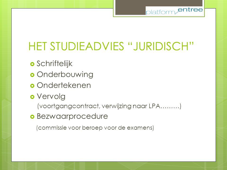 HET STUDIEADVIES JURIDISCH