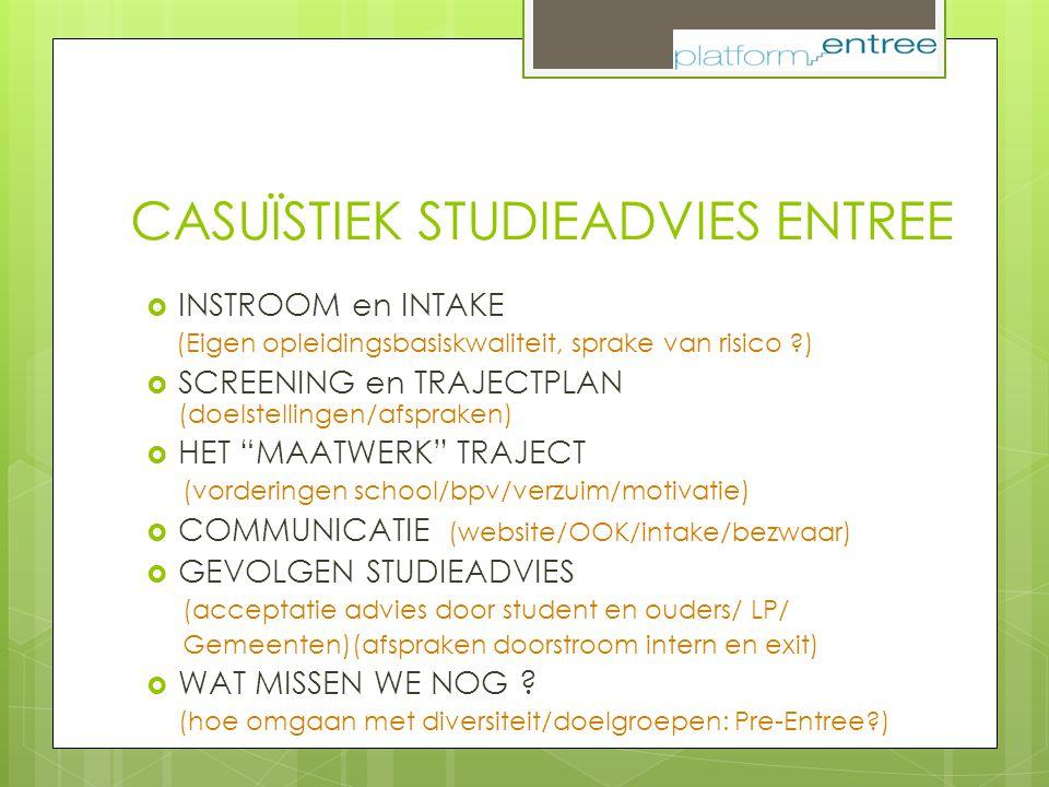 CASUÏSTIEK STUDIEADVIES ENTREE
