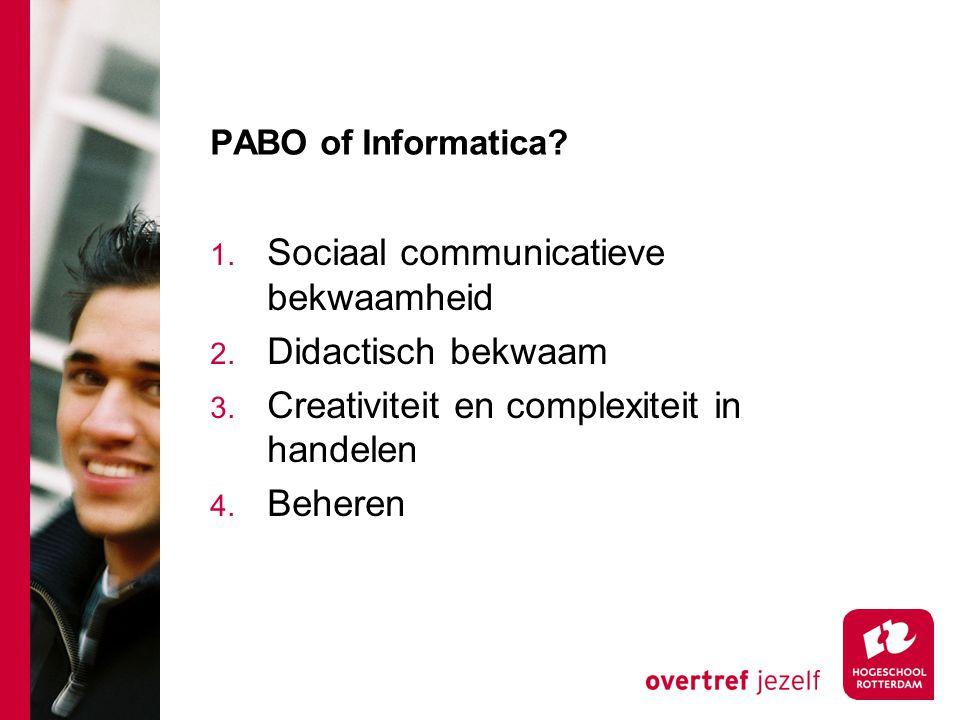 Sociaal communicatieve bekwaamheid Didactisch bekwaam