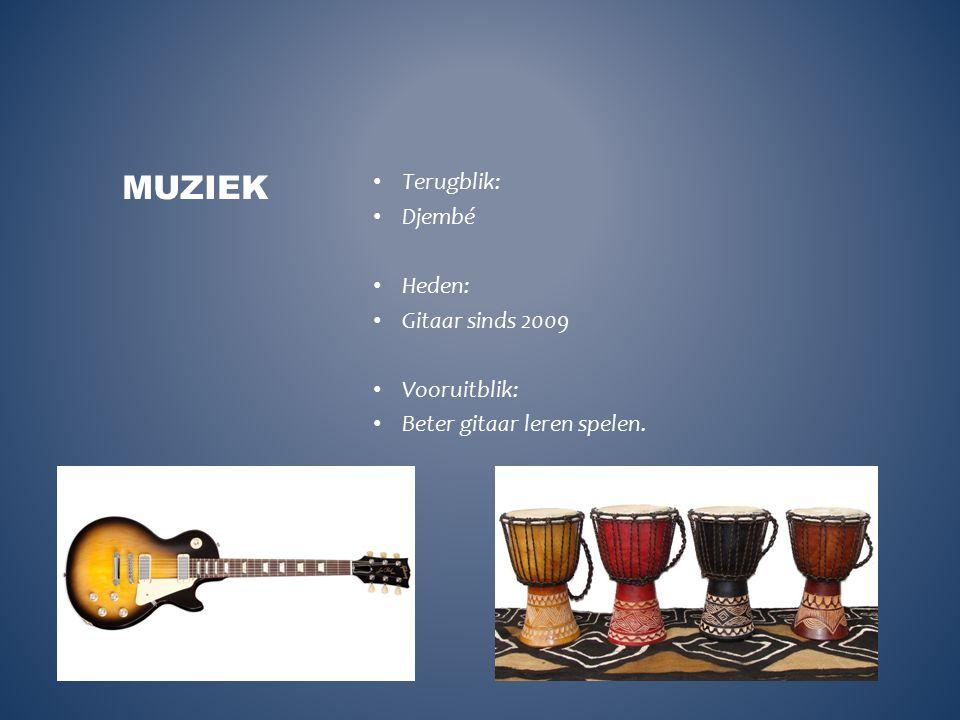 Muziek Terugblik: Djembé Heden: Gitaar sinds 2009 Vooruitblik: