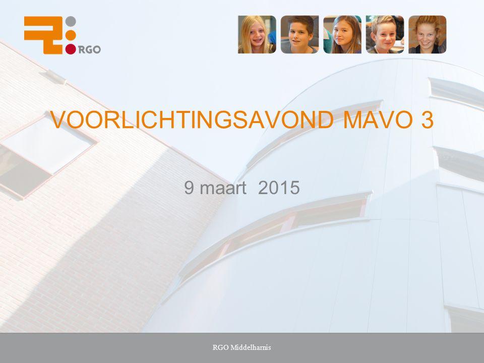 Voorlichtingsavond MAVO 3