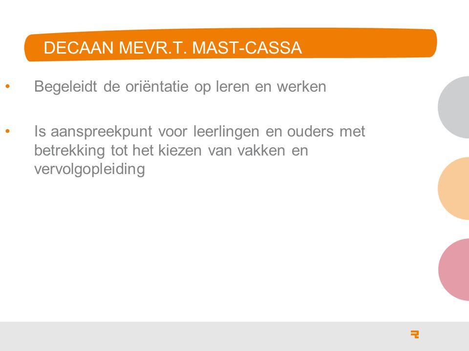 DECAAN MEVR.T. MAST-CASSA