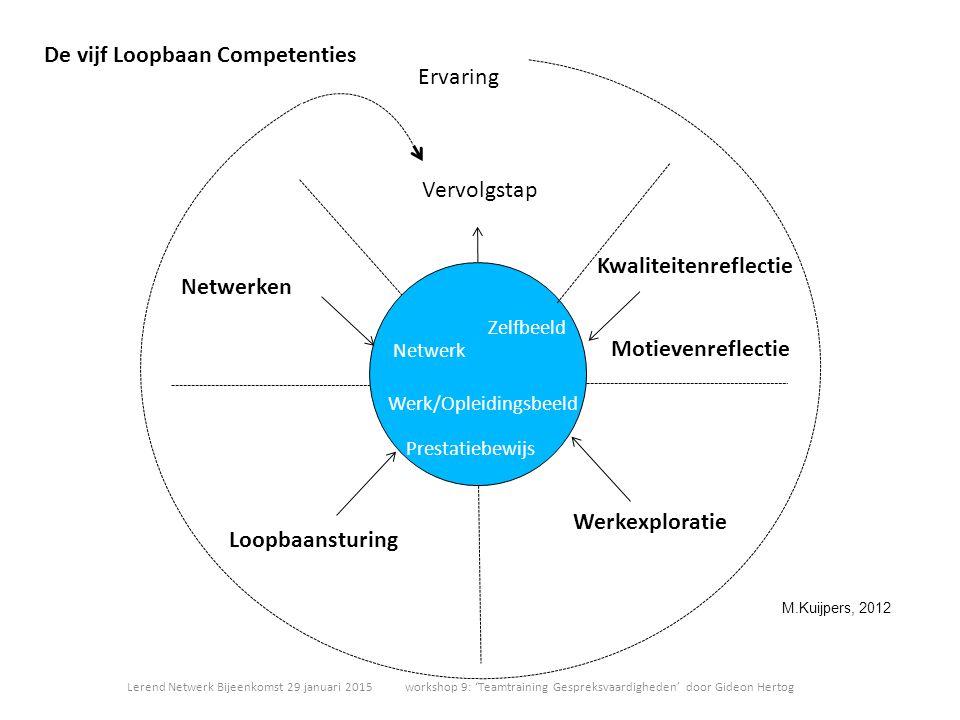 De vijf Loopbaan Competenties Ervaring