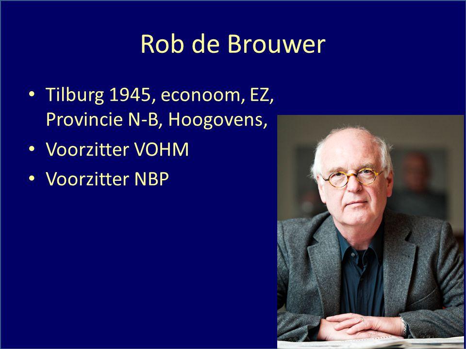 Rob de Brouwer Tilburg 1945, econoom, EZ, Provincie N-B, Hoogovens,