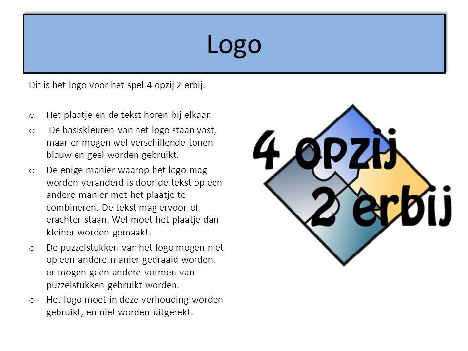 Logo Dit is het logo voor het spel 4 opzij 2 erbij.