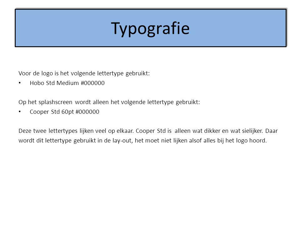 Typografie Voor de logo is het volgende lettertype gebruikt: