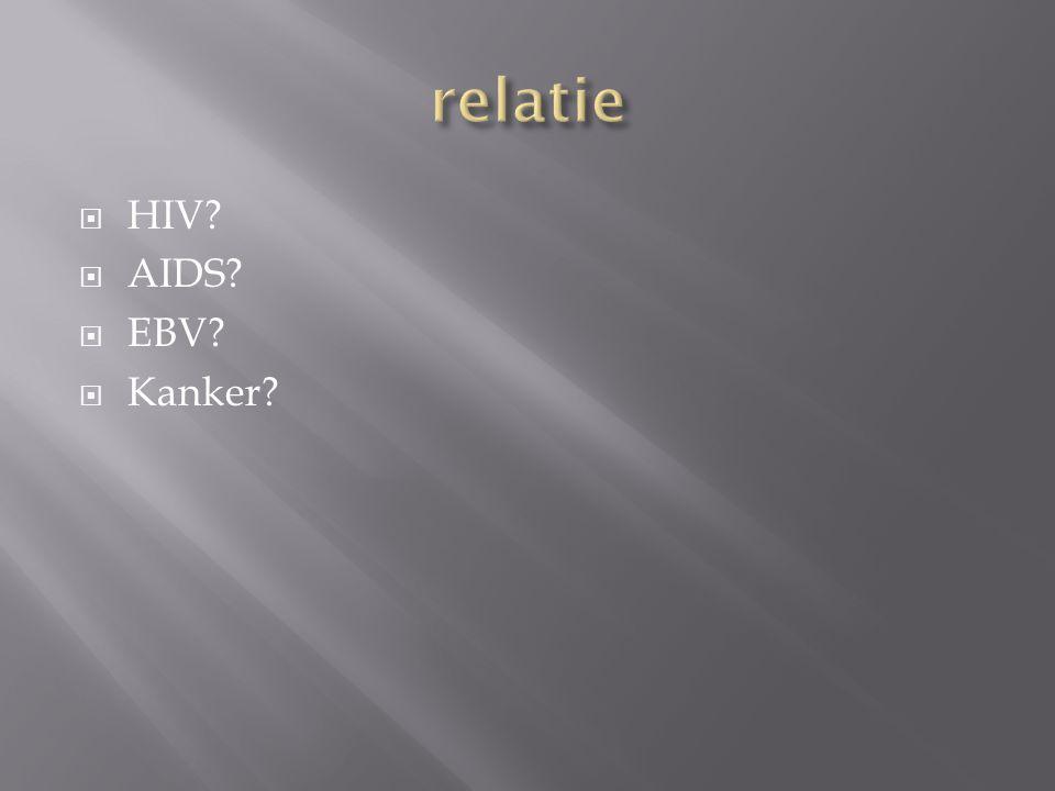 relatie HIV AIDS EBV Kanker