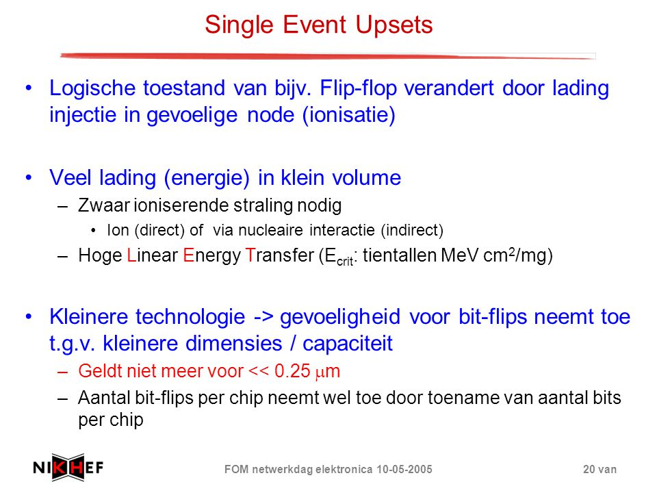 FOM netwerkdag elektronica 10-05-2005