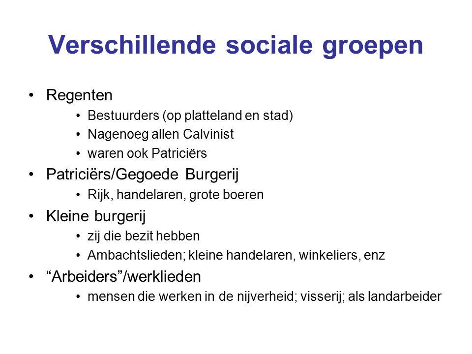 Verschillende sociale groepen