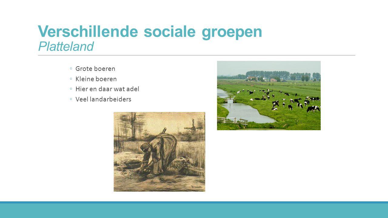 Verschillende sociale groepen Platteland