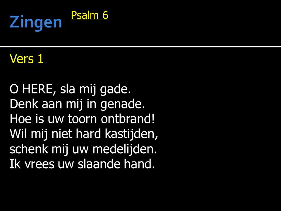Zingen Vers 1 O HERE, sla mij gade. Denk aan mij in genade.
