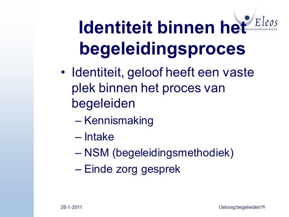 Identiteit binnen het begeleidingsproces
