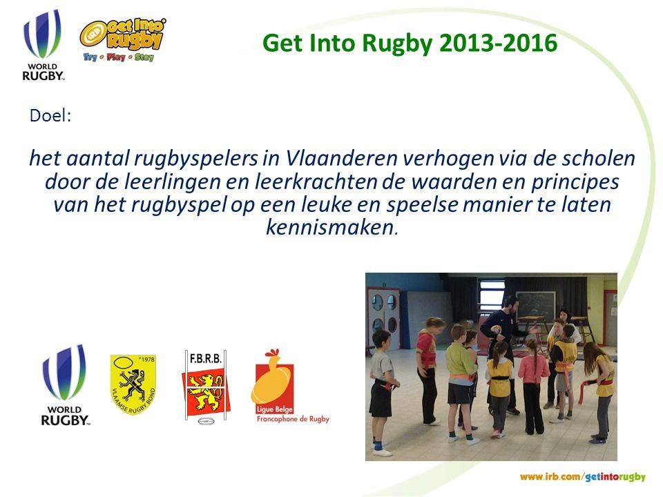 Get Into Rugby 2013-2016 Doel: