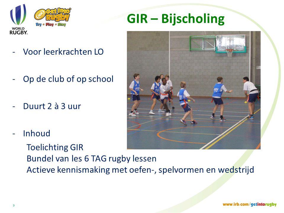 GIR – Bijscholing Voor leerkrachten LO Op de club of op school