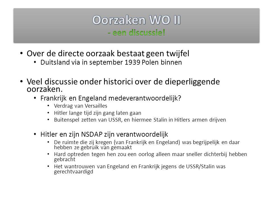 Oorzaken WO II - een discussie!