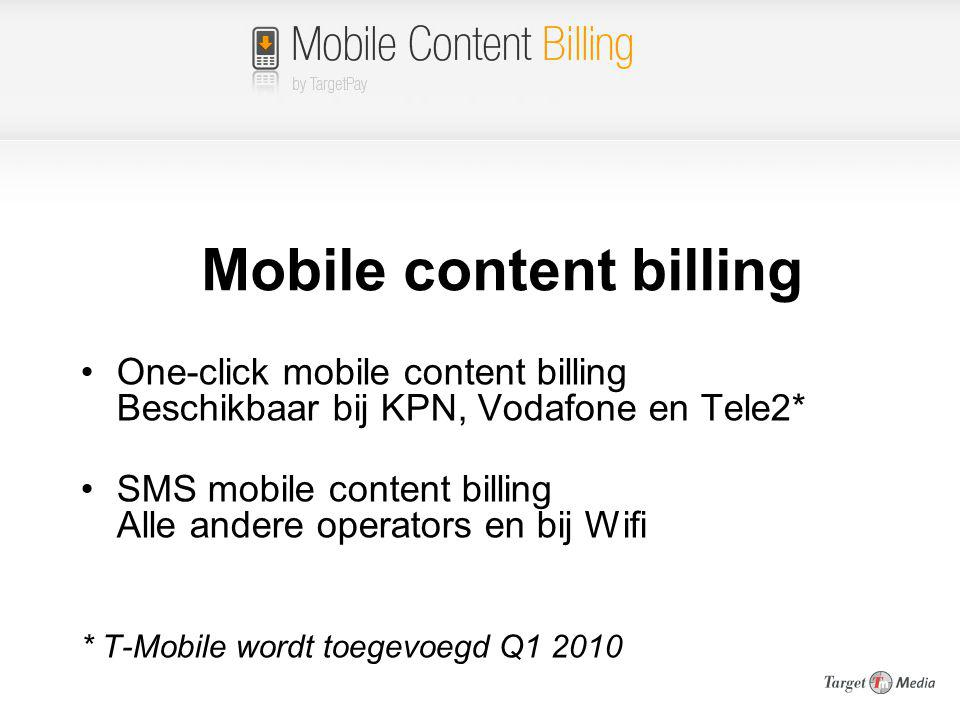 Mobile content billing