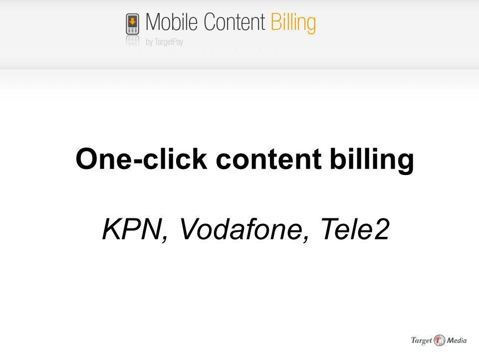 One-click content billing