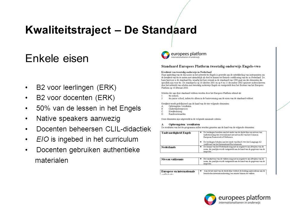 Kwaliteitstraject – De Standaard