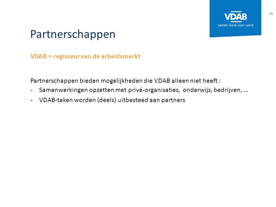 Partnerschappen VDAB = regisseur van de arbeidsmarkt