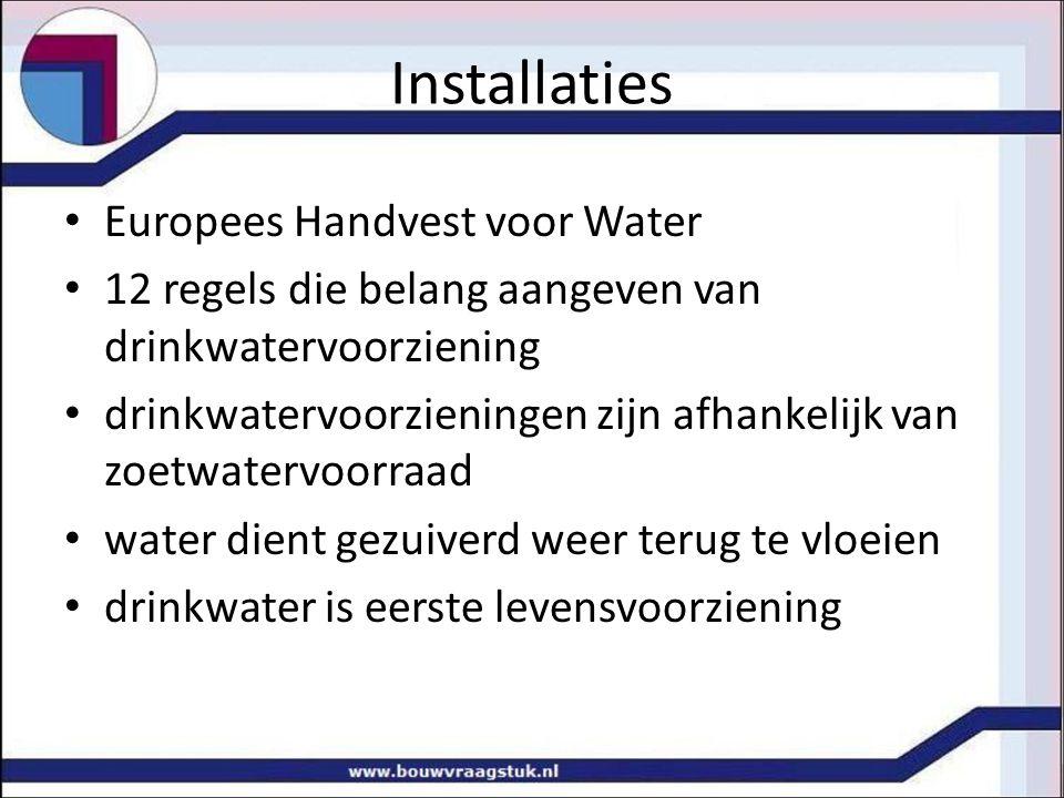 Installaties Europees Handvest voor Water