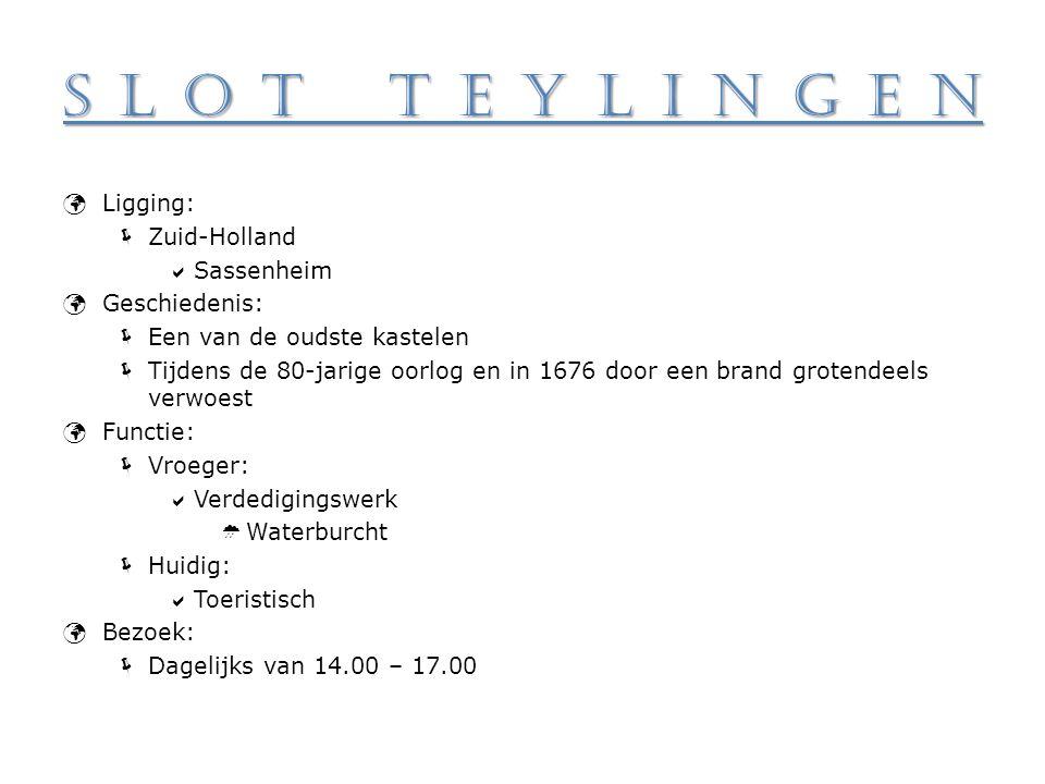 Slot Teylingen Ligging: Zuid-Holland Sassenheim Geschiedenis: