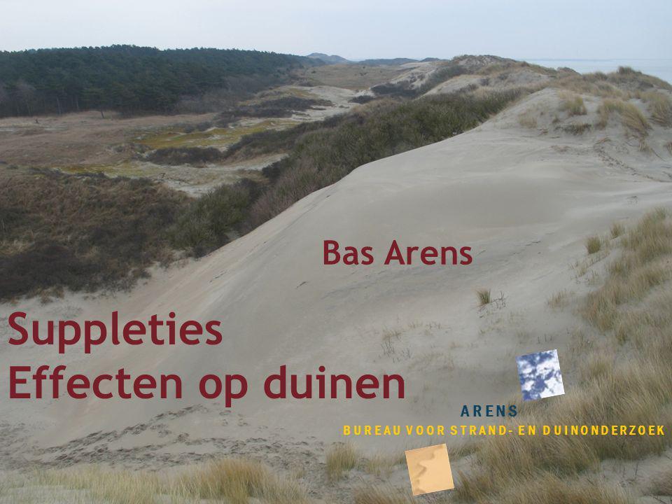 Suppleties Effecten op duinen