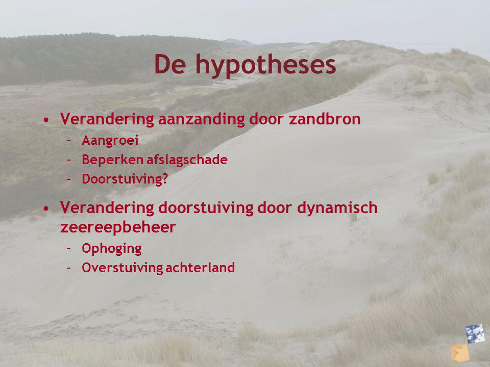 De hypotheses Verandering aanzanding door zandbron