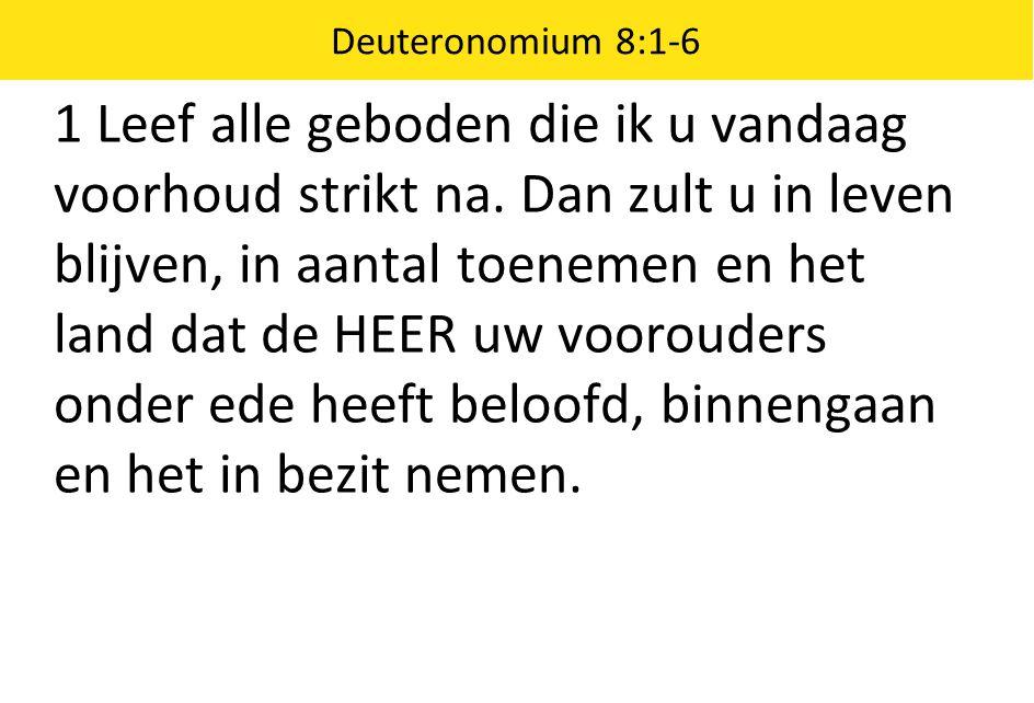 Deuteronomium 8:1-6