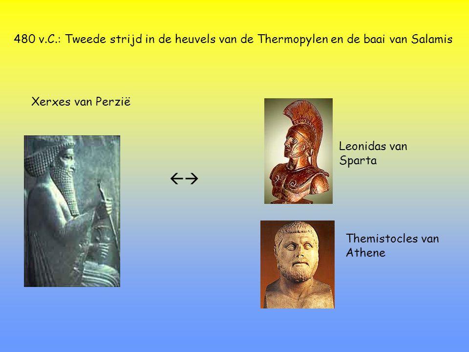 480 v.C.: Tweede strijd in de heuvels van de Thermopylen en de baai van Salamis
