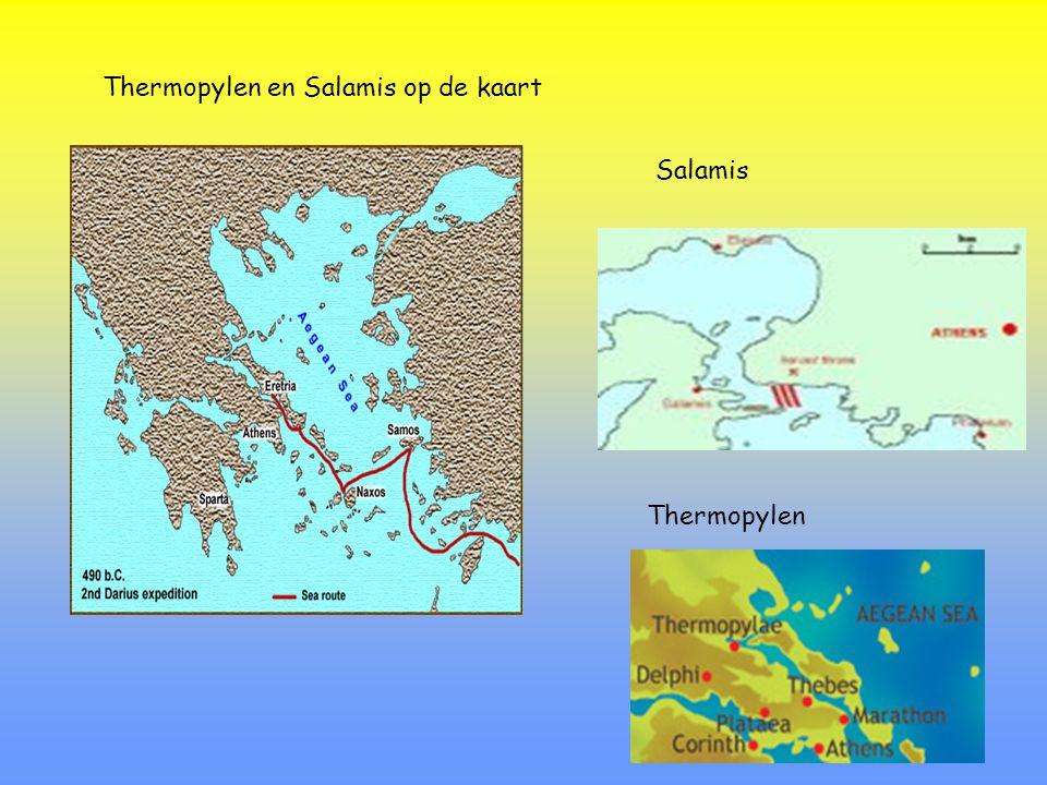 Thermopylen en Salamis op de kaart