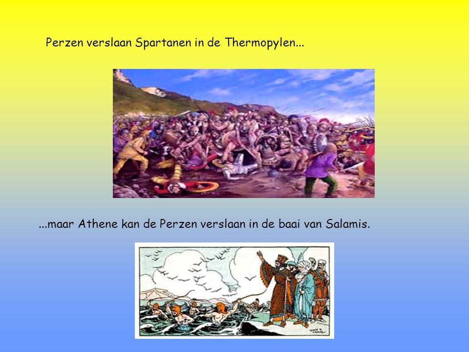Perzen verslaan Spartanen in de Thermopylen...