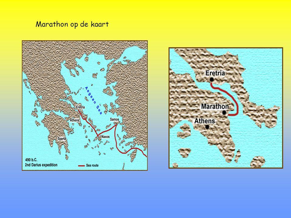 Marathon op de kaart