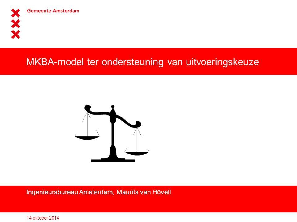 MKBA-model ter ondersteuning van uitvoeringskeuze