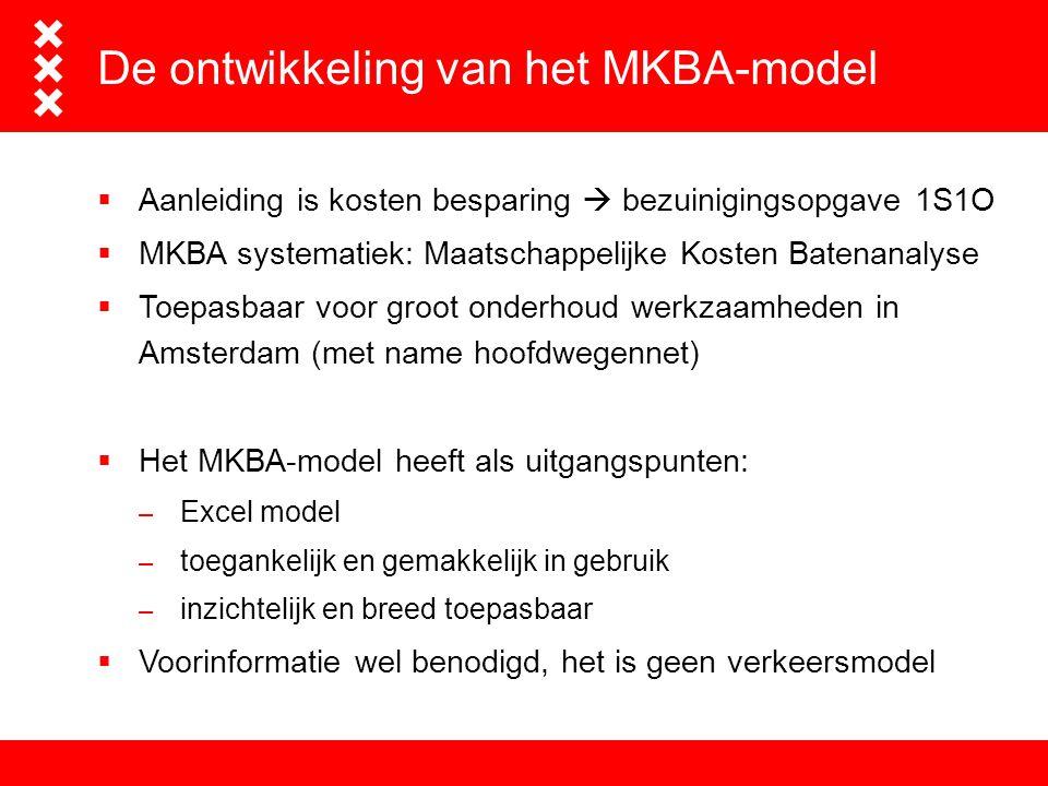 De ontwikkeling van het MKBA-model