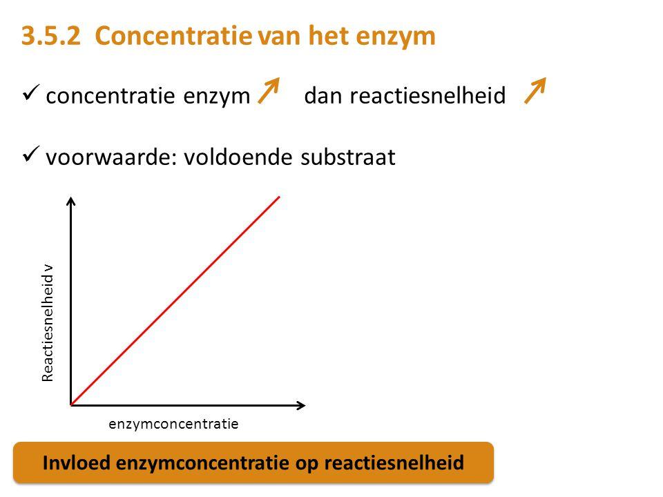 Invloed enzymconcentratie op reactiesnelheid