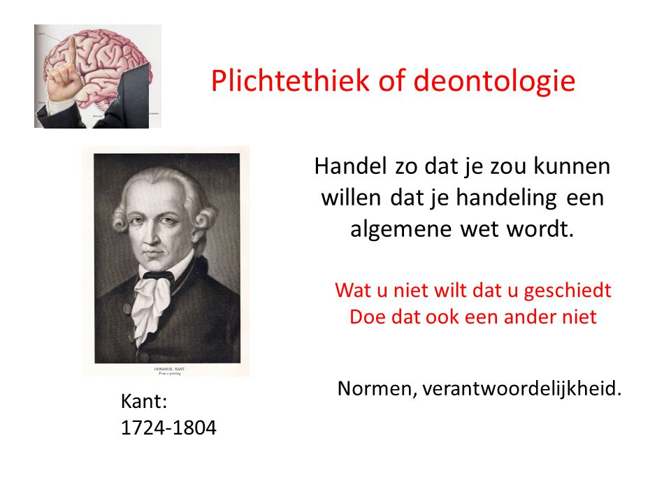 Plichtethiek of deontologie