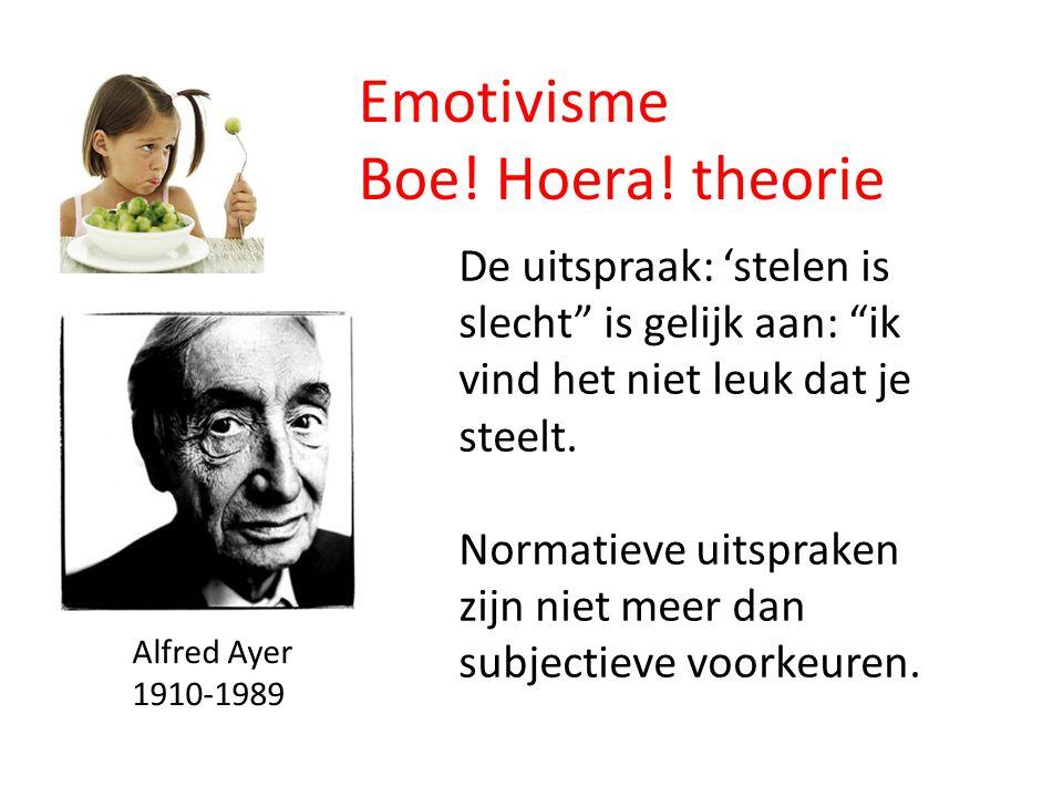 Emotivisme Boe! Hoera! theorie