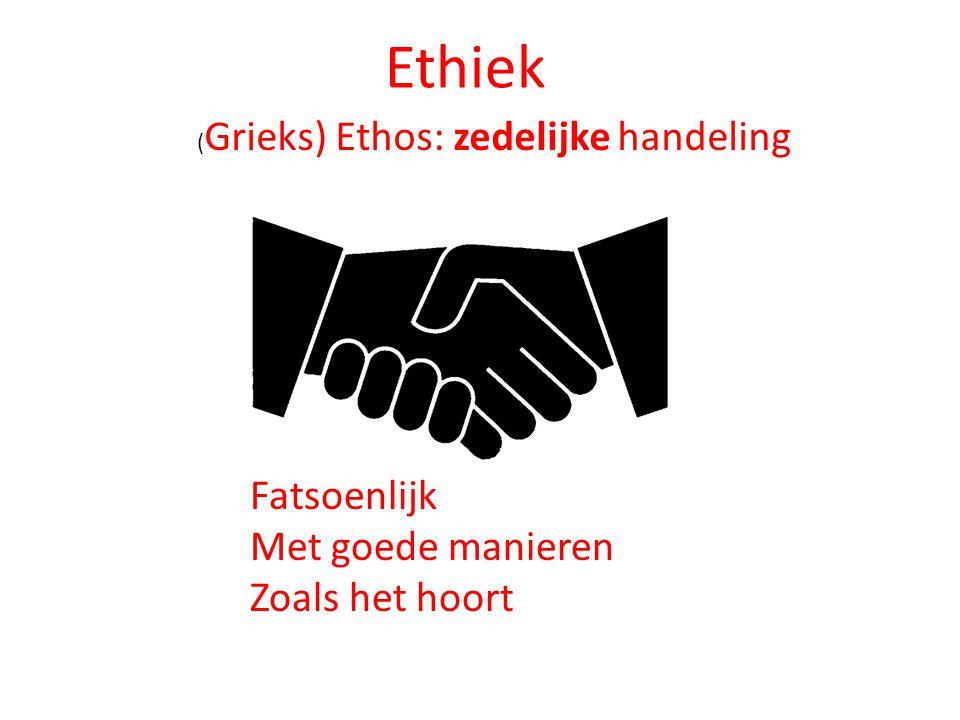 Ethiek Met goede manieren Zoals het hoort