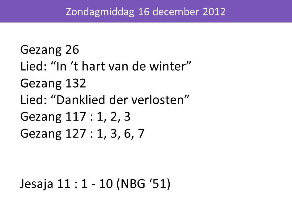 Zondagmiddag 16 december 2012