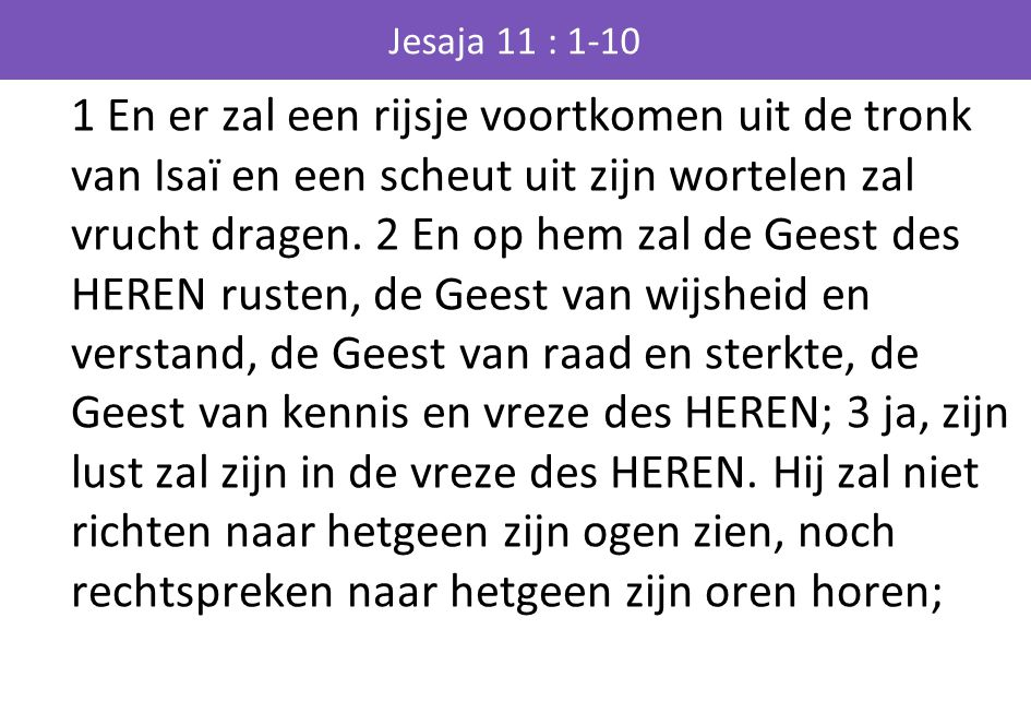 Jesaja 11 : 1-10