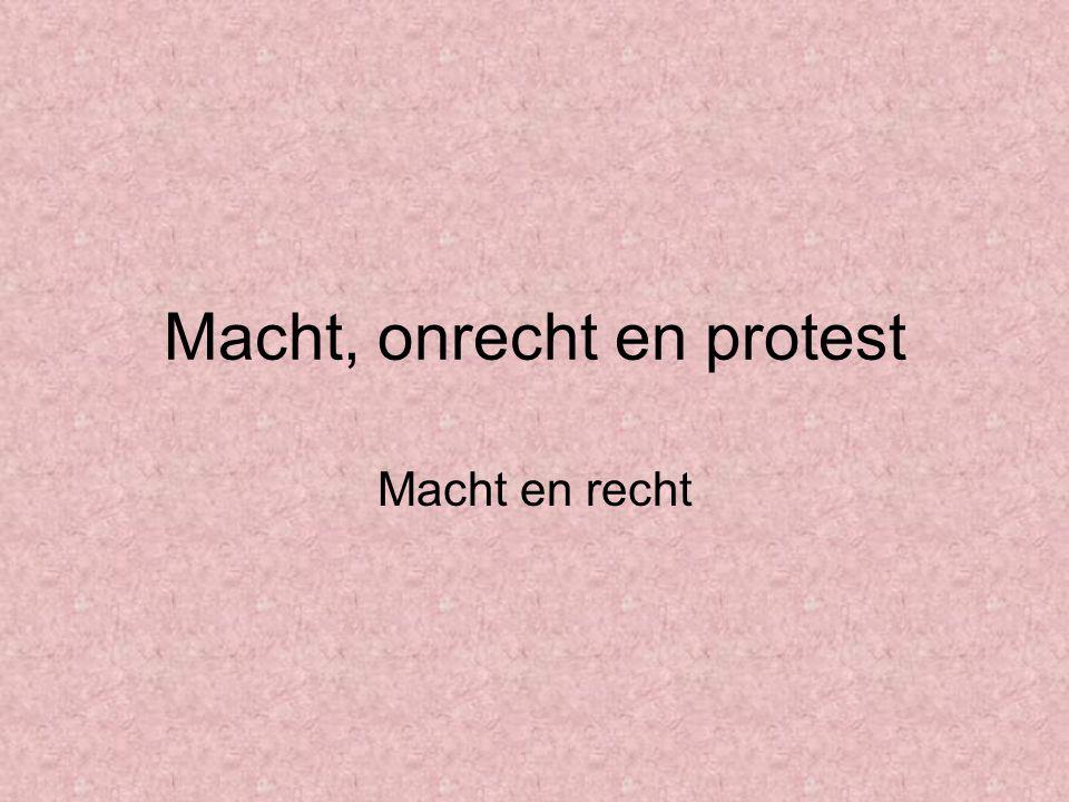 Macht, onrecht en protest
