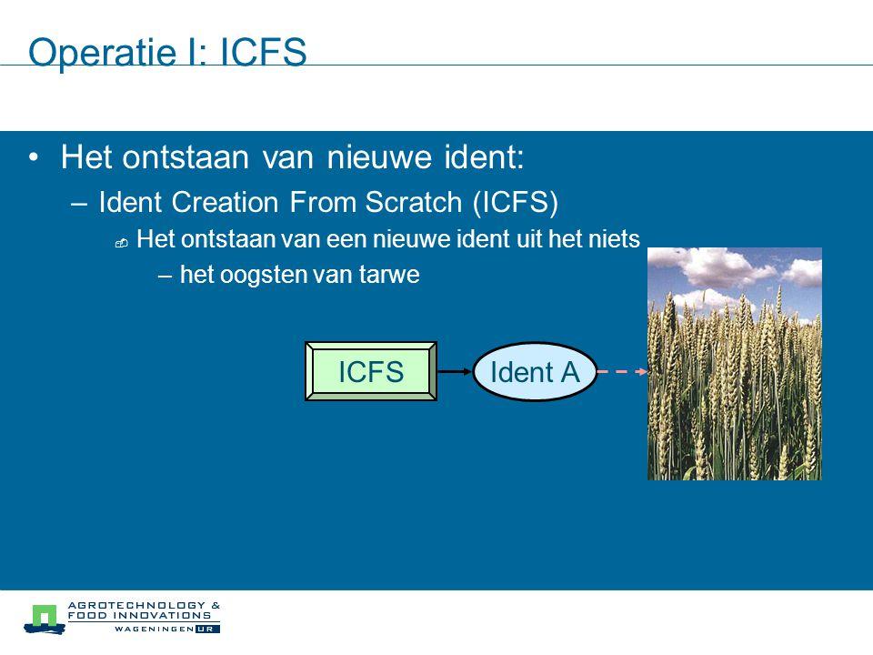 Operatie I: ICFS Het ontstaan van nieuwe ident: