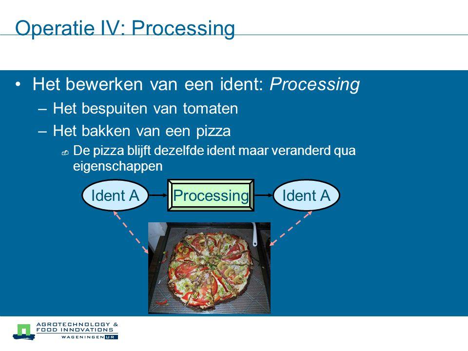 Operatie IV: Processing