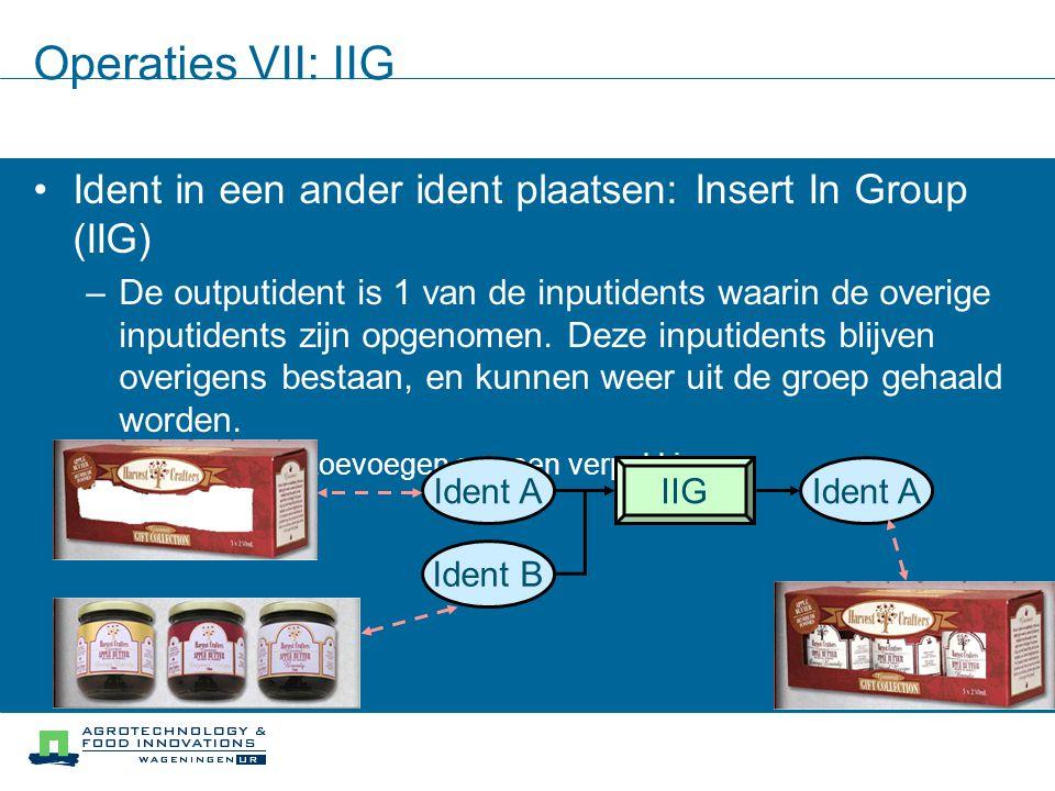 Operaties VII: IIG Ident in een ander ident plaatsen: Insert In Group (IIG)