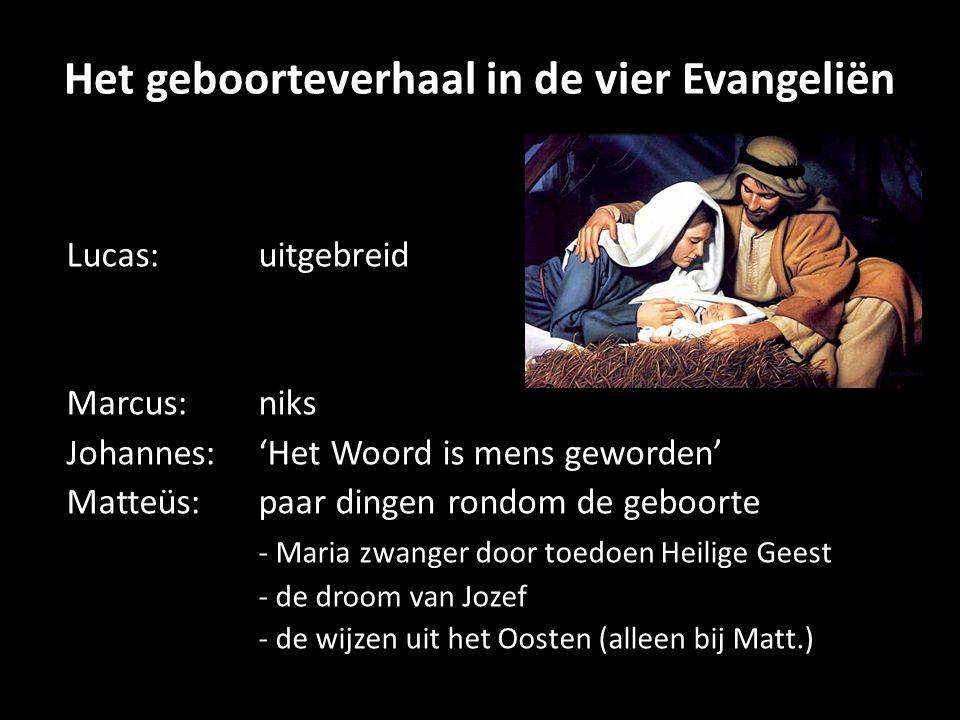 Het geboorteverhaal in de vier Evangeliën