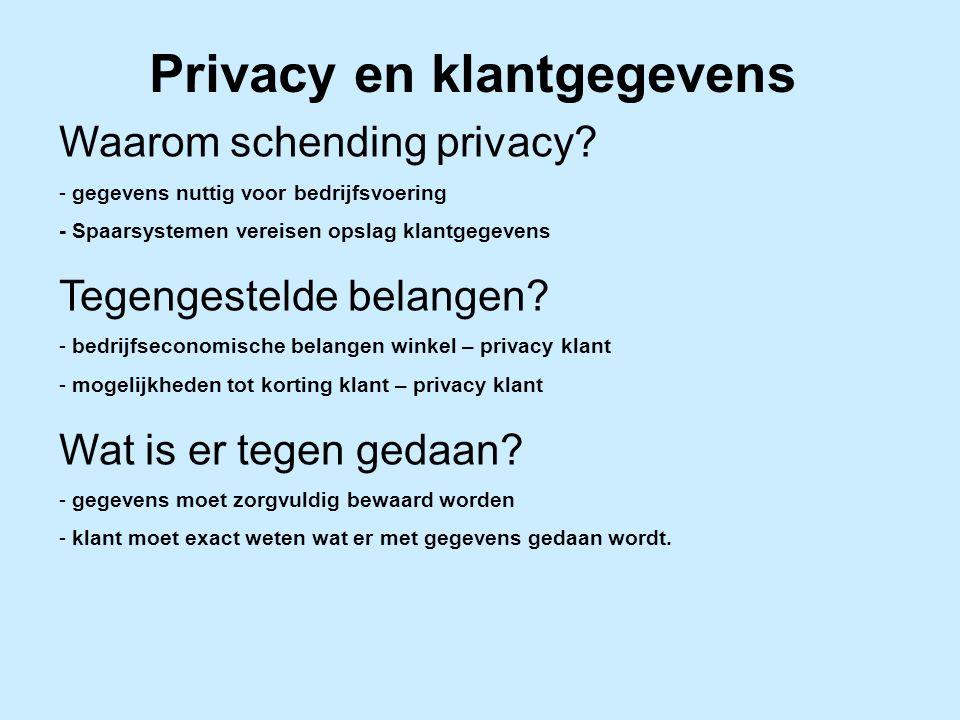 Privacy en klantgegevens