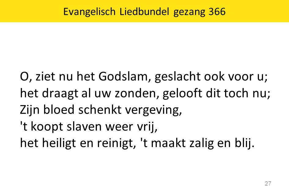Evangelisch Liedbundel gezang 366