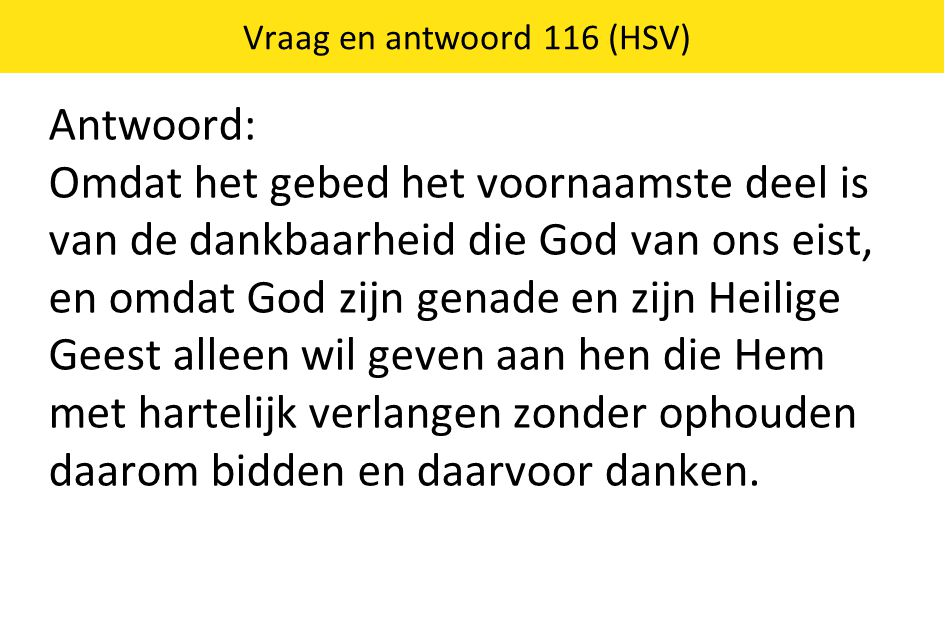 Vraag en antwoord 116 (HSV)